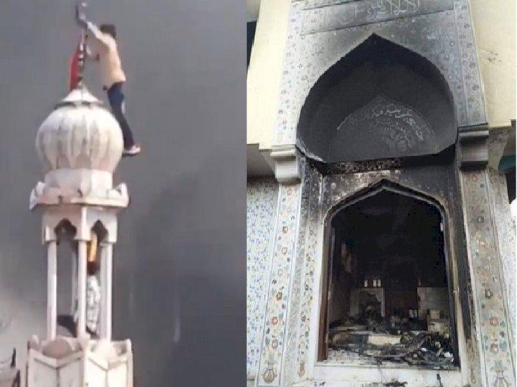 "Hindu Mob Burns Mosque Shouting ""Jai Shri Ram"""