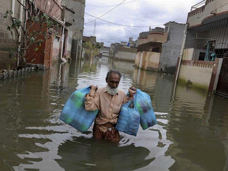 The Famous Korangi Causeway In Karachi Closed Because Of Floodwater
