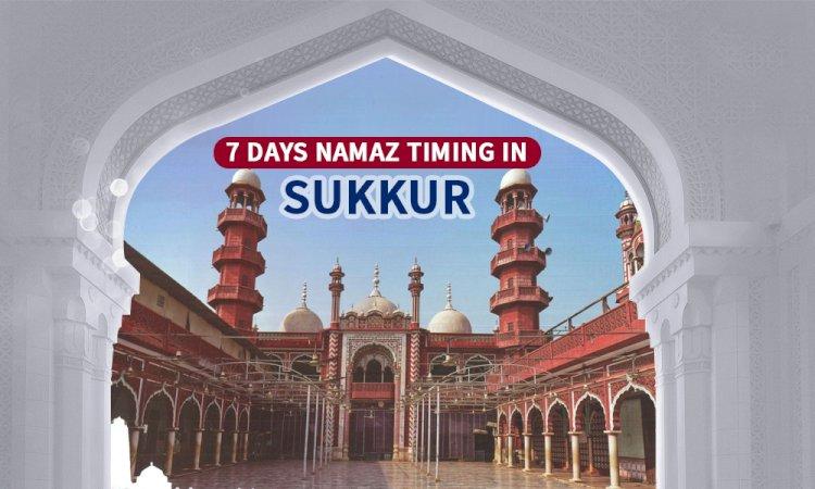 Namaz Timing In Sukkur & Adjacent Areas