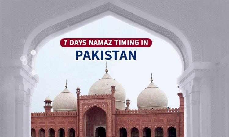 Namaz Timings in Pakistan