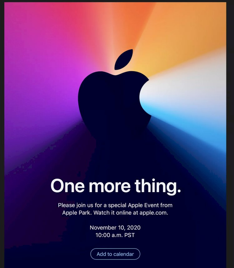 New Apple Event 'One More Thing'