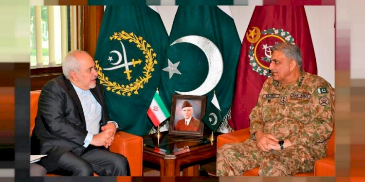Foreign Minister Of Iran Javed Zarif Meets COAS Bajwa
