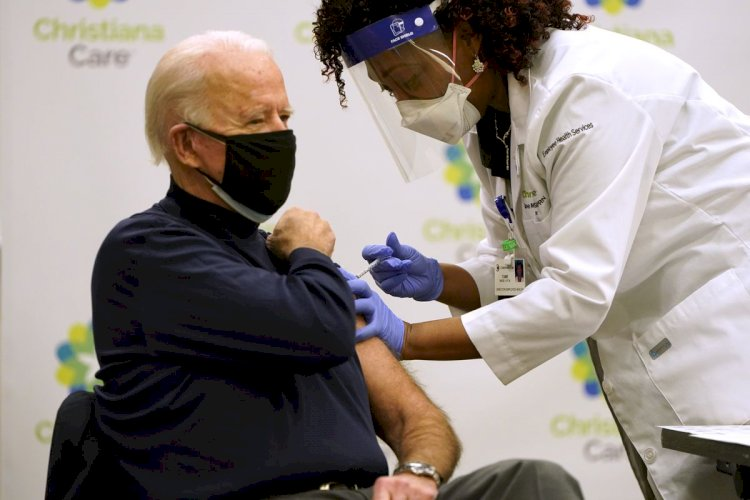 Joe Biden Received The Shot Of COVID-19 Vaccine