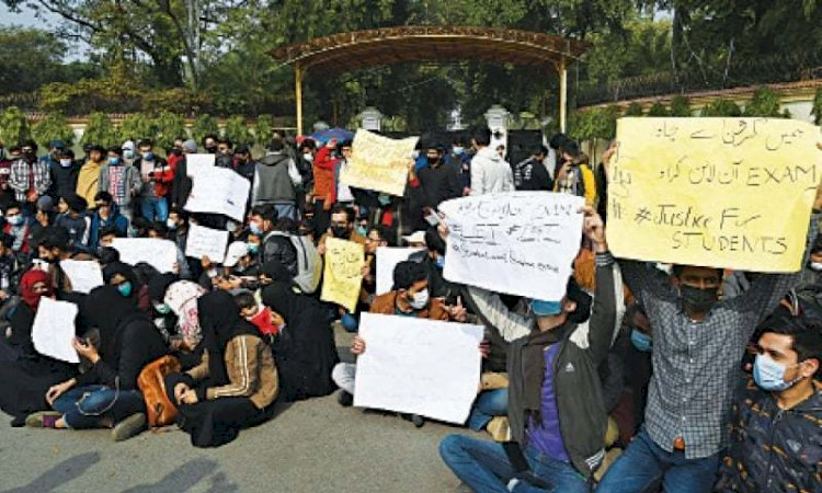 Online Exams: Student's Protest Paid Off