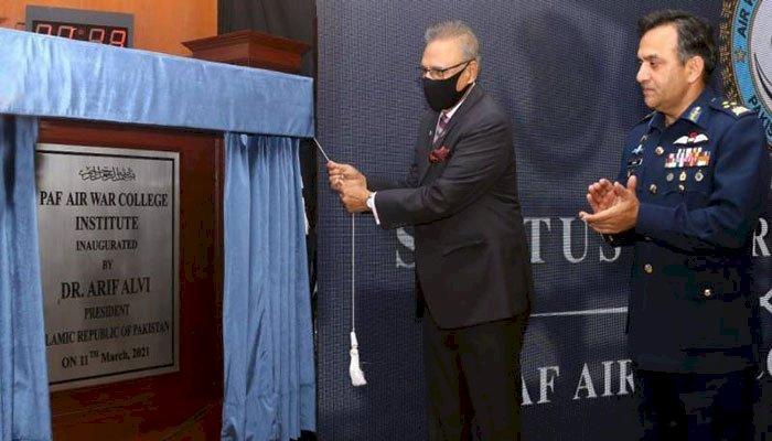 President Arif Alvi inaugurates PAF Air War College Institute in Karachi