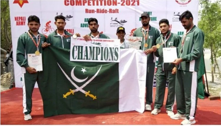 Pakistan Army Wins the Best International Team Title in Nepal