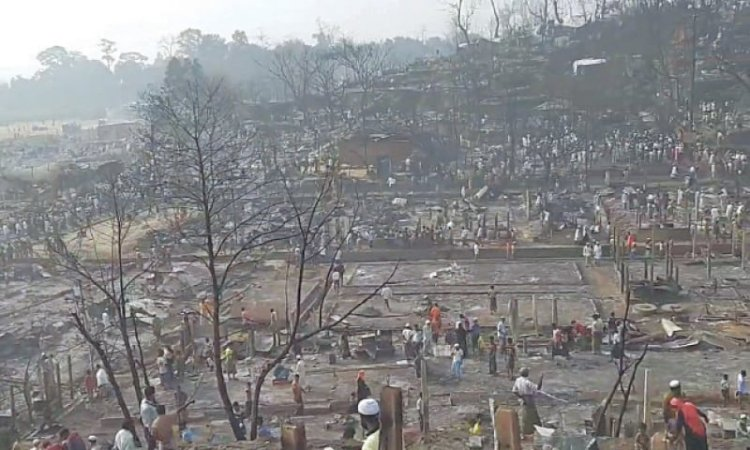 A devastating fire at Rohingya camp, Bangladesh kills 15, leaves 400 missing: UNHCR
