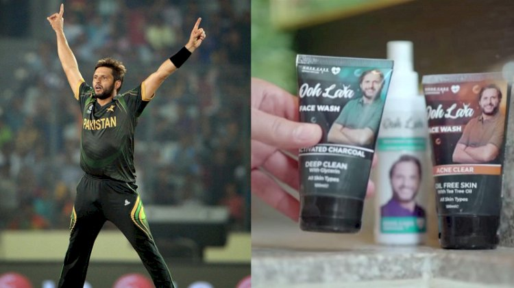 Cricketer Shahid Afridi Has Become The Latest Celebrity To Launch a Skincare Line.