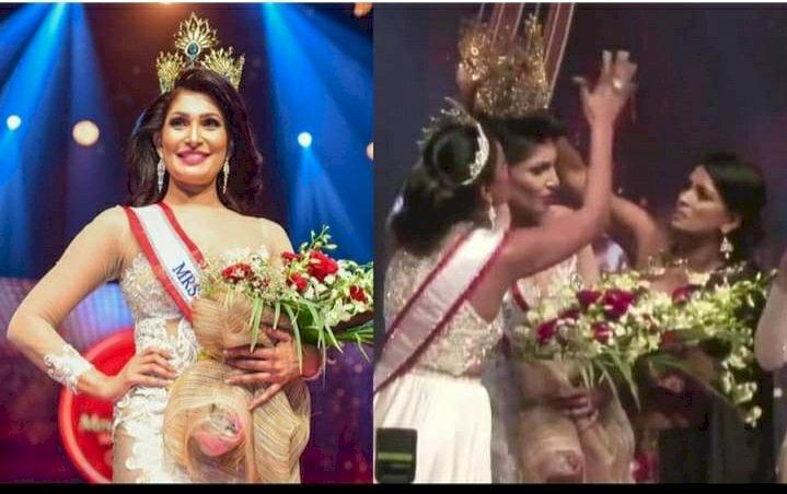 Mrs. Sri Lanka 2021 winner to take legal action after on-stage brawl