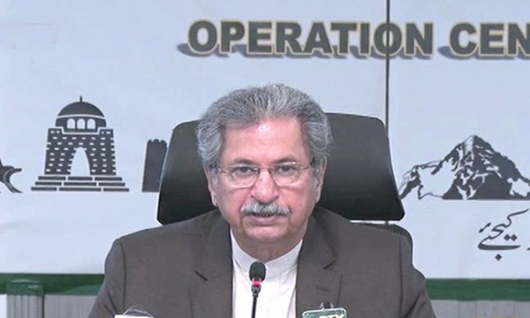 """""""No exams will be held in the country until June 15,"""" Shafqat Mahmood"""