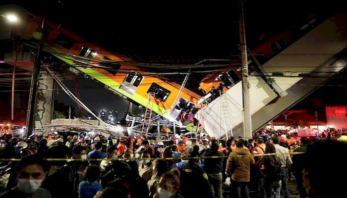 23 Dead, As Metro Collapses Onto A Road In Mexico City