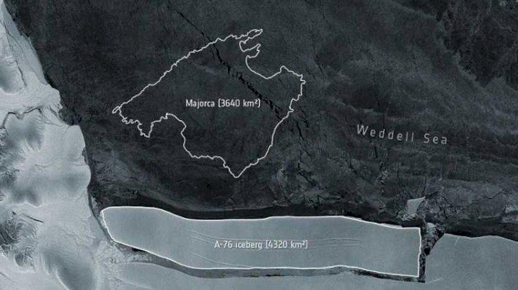 World's largest iceberg 'A-76' breaks off Antarctica: ESA