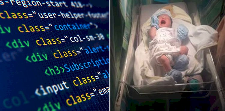 A Web Developer Names His Son HTML, in Honour of his Profession.