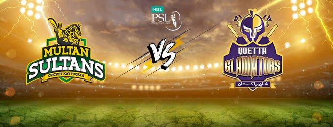 PSL 2021: Quetta Gladiators vs Multan Sultans In Abu Dhabi Today