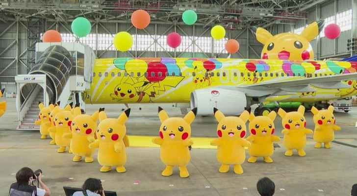 Japanese Airlines Launches Pikachu-Themed Plane