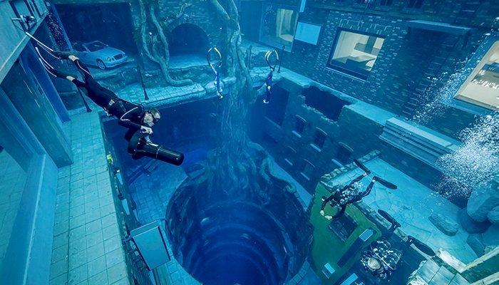 Dubai Opens World's Deepest Swimming Pool 'Deep Dive Dubai'
