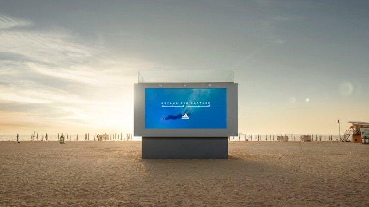 Adidas Unveils The World's First-Ever Liquid Billboard in Dubai.