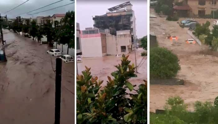 Cloudburst Causes Flood Situation In Islamabad.