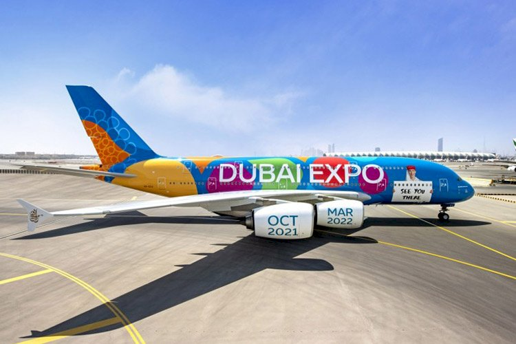 Emirates Airline Launches Expo 2020 Themed Aircraft.